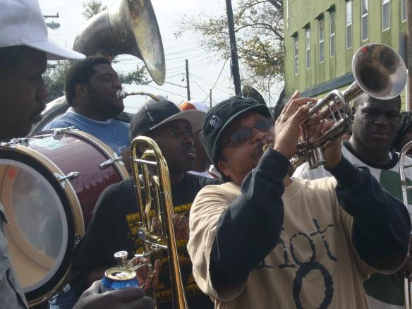 Trumpeter Raymond Williams with the Hot 8 Brass Band - photo © Matt Sakakeeny.