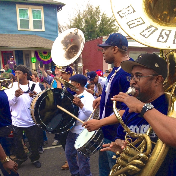 "The world famous ""back row"": Keith Frazier (bd), Derrick Tabb (sn), Philip Frazier (tuba)(L-R)"